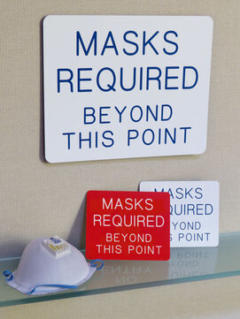 mask required wall sign in two sizes