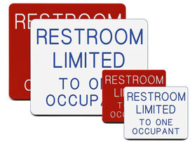 Restroom Limited to One Occupant