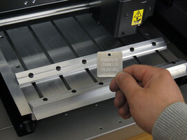 T-slot table for engraving machine