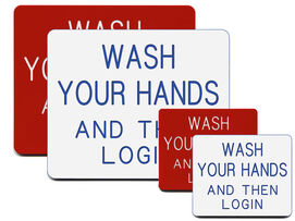 Wash Hands and Login